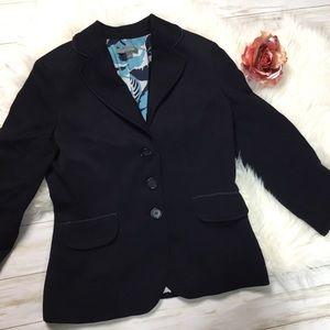 Ann Taylor NAVY BLAZER Size 6 100% Cotton